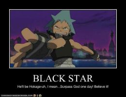 Black Star Poster by Realmotta