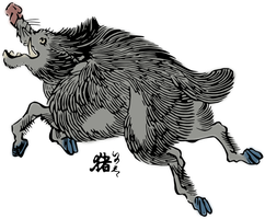 Clipart Wild boar by hansendo