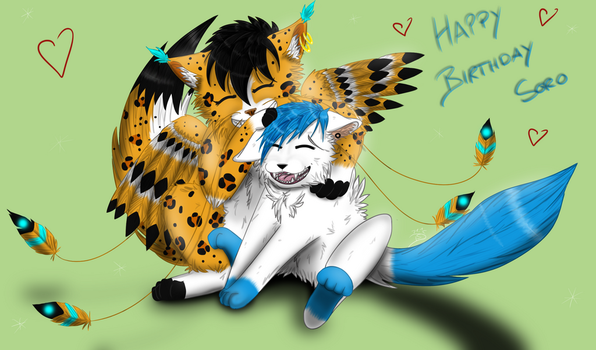 Happy Birthday Soro + Speedpaint (Updated) by Distelschweif
