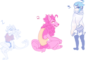 PastelStockings Inspired Adopts (CLOSED) by piggypen