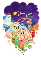 Kirby's Epic Yarn by anocurry