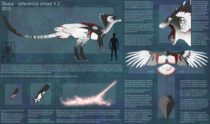 Skaia - reference sheet V.2 by M4WiE