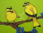 Goldfinches by LotusElysse
