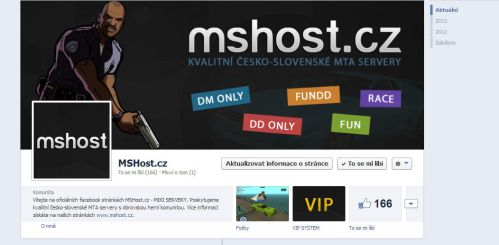 MSHost.cz - FB page by Ingnition