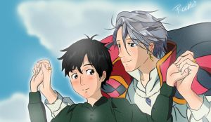 Howl's moving castle X YURI ON ICE by Racklet