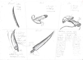 Weapon Sketches by KartProwler