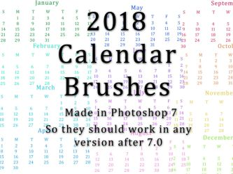 2018 Calendar Brushes by nutamu