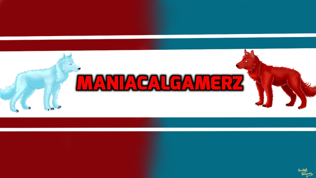 ManiacalGamerz Banner for youtube [commission] by PaintedPatience