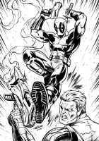 Deadpool Vs. Cable by robertmarzullo