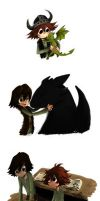 HTTYDBOOKMOVIEHICCUPTOOTHLESS by Nippo