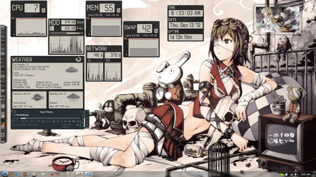 Gumi Megpoid Rainmeter Desktop by OmegaManLegend