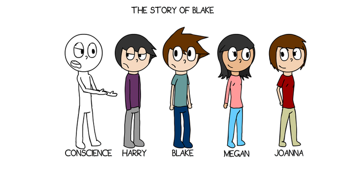 The Story of Blake - Character Lineup by Its-Joe-Time