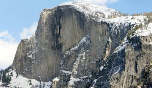 Half Dome from Yosemite Valley by thzinc
