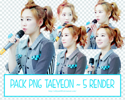 PACK PNG TAEYEON ~ 5 RENDER by CeByun688
