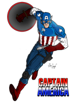 Captain America by SamGreenArt