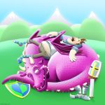 The Dragon and the Knight by SeanDrawn