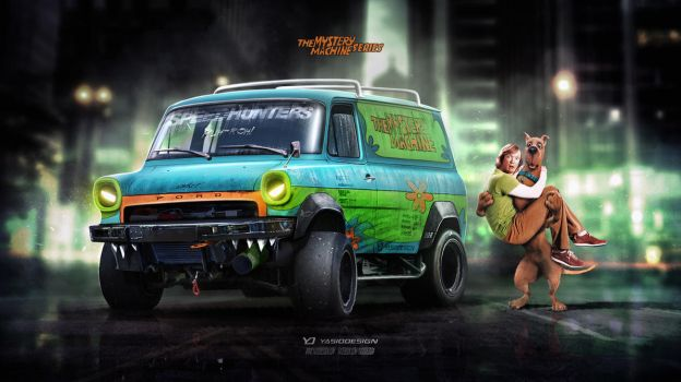 Mystery Machine Ford Transit ScoobyDoo series by yasiddesign