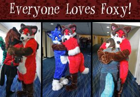 Everyone Loves Foxy Collage by PudgeyRedFox