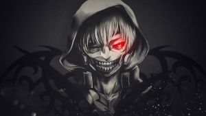White-haired Kaneki Ken wallpaper 1366x768 by gameriuxlt