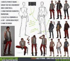 Tutorial: Using a Base Sketch for Characters by CGCookie