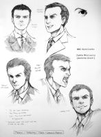 James Moriarty character study by inklou