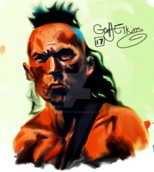 Last of the mohicans - Magua by Geoffrey-Lee-Elkins