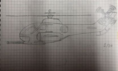 a helicopter by TaeyunJung