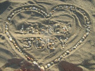 Beach stones made with Letters by LoreSakurachan