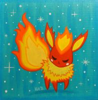 Flareon Painting by fuish