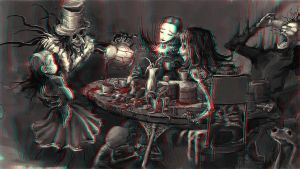 Gothic Tea Party 3-D conversion by MVRamsey