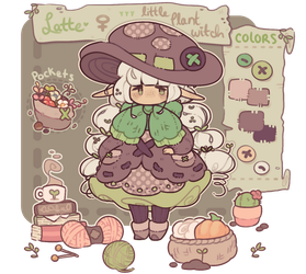 latte - little plant witch - reference by blushbun