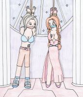 Cana and Flare Hanging by TraceMem