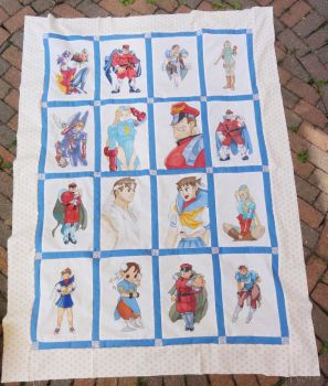 SF quilt WIP finished top by Shadaloo1989