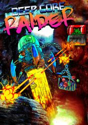 'Deep Core Raider' - ZX Spectrum Cassette Cover by Zombie-Pacman