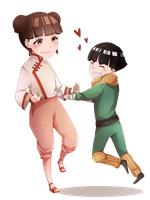 Metal Lee And Tenten by annJu-chan