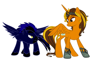 Spark Storm and Shimmering Oasis - Pony OC's by pepooni