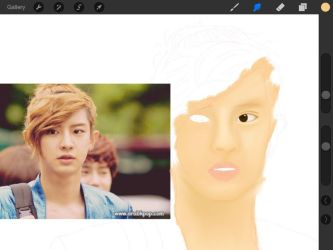 Chanyeol WIP 2.0 by imagine-all-the-art