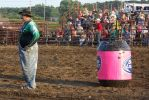 Rodeo Clown at Wild West Days, ViroquaWI 2014 7:11 by Crigger