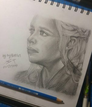 Daenerys Targaryen sketch by ppeach444