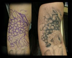 Freehand Vineyard Grapes by jesserix