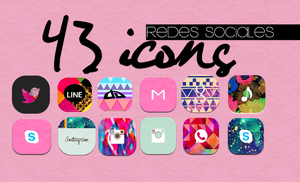 Icons Redes Sociales by MeelisaS