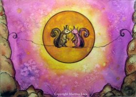 moonlight Lovers by dragonflywatercolors
