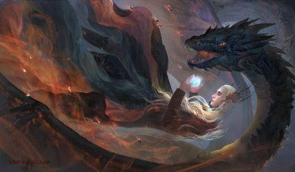 Fight for the Arkenstone by tinyyang