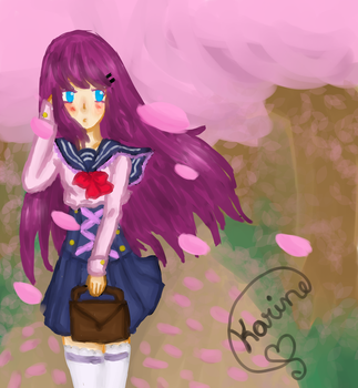 .: Harumi and the cherry blossoms :. by YoshineChan