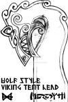 Viking Tent Wolf Head Design