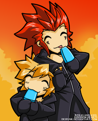KH - Roxas and Axel by desfunk