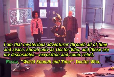 Doctor Who quote, Missy by LauraSeabrook