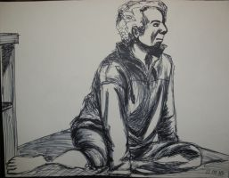 Life Drawing - Back to control by artisticTaurean