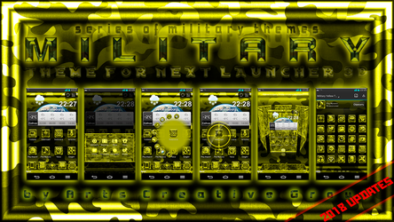 Next Launcher Theme Military Yellow by ArtsCreativeGroup