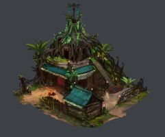 Age of Empires 2 Wood Elves town center by JordyLakiere